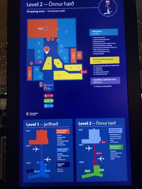 ケプラヴィーク国際空港のマップ